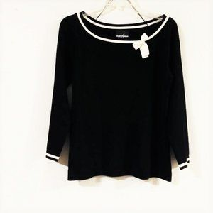 Positive Attitude Black Knit Sweater